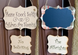 Double Reversible Chalk Board Sign